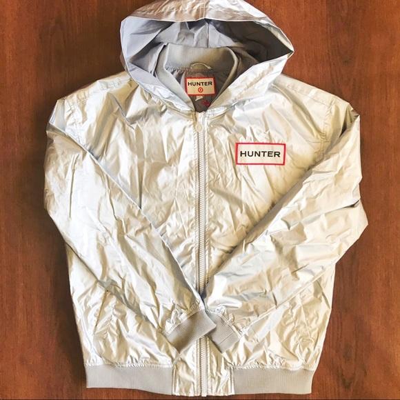 4733b9cdb [Hunter] for Target silver rain jacket size M mens NWT